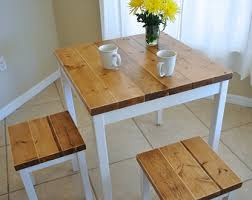 small farmhouse table and chairs small dining table etsy