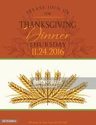 fall farm with thanksgiving dinner invitation template