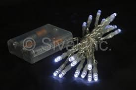 battery operated led lights 20lt clear wire various colors