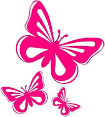 pink butterfly vinyl stickers decals car window amazon co uk
