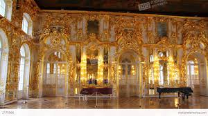 hall palace interior in pushkin st petersburg rus stock video