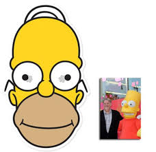 homer simpson mask pack homer simpson face mask the simpsons includes 6x4
