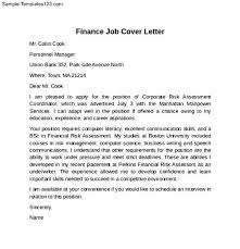sle cover letter finance sle cover letter finance accounting and finance seeking