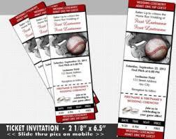 baseball wedding invitations baseball wedding invitation set sports ticket invitations