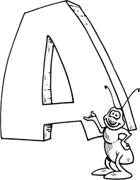 letter a is for ant coloring page printable education letter a