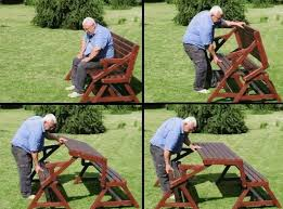picnic table to bench