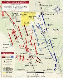 Sterling Virginia Map by Brawner U0027s Farm August 28 1862 Civil War Trust