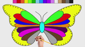 rainbow butterfly coloring pages how to color animals coloring