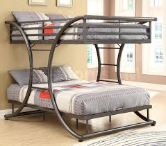 Bunk Bed Mattress Size Gun Metal Full Over Full Size Bunk Bed 846 00 Furniture Store