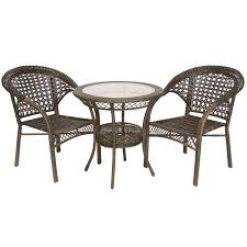 Wicker Bistro Table And Chairs Home Loft Concepts Cristiano 3 Piece Wicker Bistro Set U0026 Reviews
