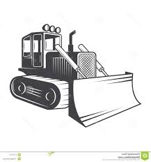 best 15 illustration of bulldozer clipart black and images