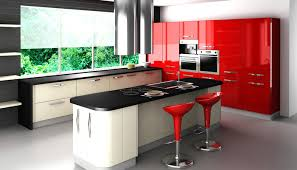 Red And Black Kitchen Cabinets Red And Black Kitchen Cabinets Exitallergy Com