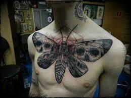 30 moth chest tattoos