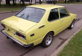 toyota corolla 2 door coupe yellow fever 1975 toyota corolla
