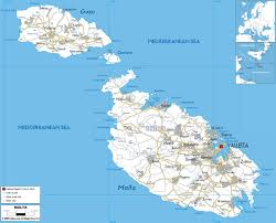 Map Of Spain With Cities by Maps Of Malta Detailed Map Of Malta In English Tourist Map