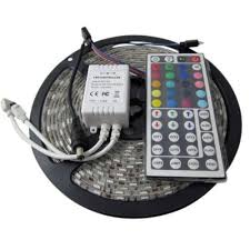 rgb led light strips adx 16 4 ft led ip65 rated strip light kit led strip na the