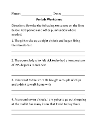 englishlinx com punctuation worksheets englishlinx com board