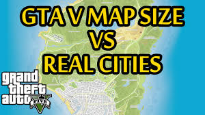 Real World Map Gta 5 Map Size Compared To Real Life Cities Across The World Gta