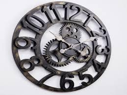 Decorative Clock Large Gear Wall Clock Decorative Clocks Bab Surripui Net