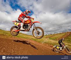 motocross dirt bike twin shock vintage motocross rider mx dirt muddy with knobbly
