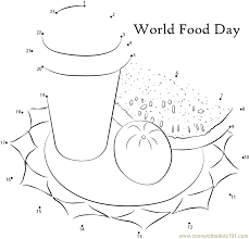 world food day connect the dots worksheets printable for kids