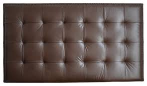 Upholstered Wall Mounted Headboards Upholstered Wall Mounted Headboard Chocolate Genuine Leather With