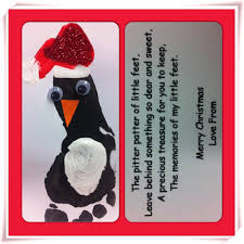 footprint penguin christmas cards christmas pinterest