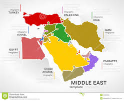 Map Of Asia And Middle East by Political Map Of Middle East And Asia With A Square Flat Icon Set