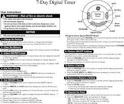Intermatic Ej351 Timer by Download Ge Plugin 15091 Ge 7day Digital Timer Owner U0027s Manual For