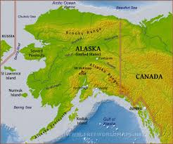 Geographical Map Geographical Map Of Alaska Canada Map