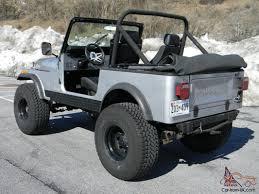 silver jeep lifted jeep cj7 4x4 skyjacker lift 35x12 50 procomps get ready