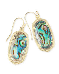 gold drop earrings kendra abalone shell gold drop earrings mullen jewelers