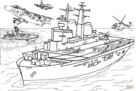 invincible class aircraft carrier coloring page free printable