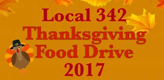 donate or volunteer for local 342 s annual thanksgiving food drive