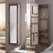 bedroom lovely wall mounted jewelry armoire for your bedroom