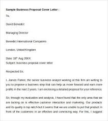 business proposal cover letter example sample business proposal