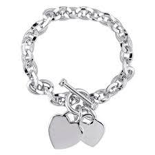 miadora sterling silver link charm bracelet free
