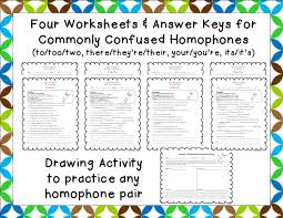 Their They Re There Worksheet Fit To Be Fourth Hoppin U0027 Homophones