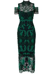 green lace cocktail dress by marchesa notte for 120 140 rent