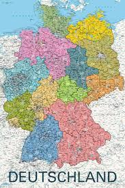 map of deutschland germany deutschland germany map in german language maxi paper poster