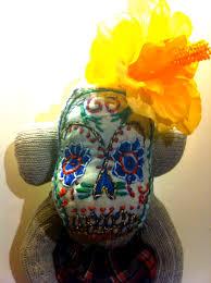 Sugar Skulls For Sale Sugar Skull Sock Monkey Poststreet Self Expression Through The Sock