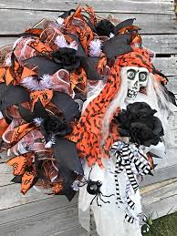 halloween wreath halloween skeleton wreath for front door