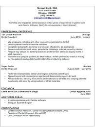 Examples Of Medical Assistant Resumes Dental Assistant Resumes Lukex Co