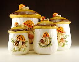 ceramic canisters sets for the kitchen retro kitchen canister set plus napkin holder retro