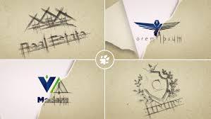 sketch logo reveal by piktufa videohive
