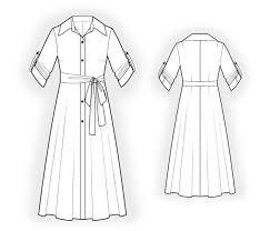 shirt tunic sewing pattern 4532 made to measure sewing pattern