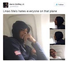 Melo Memes - carmelo anthony had the worst plane ride ever the memes are