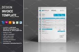 design invoice template stationery templates creative market