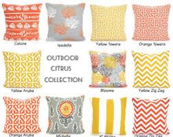 Lumbar Patio Pillows Outdoor Pillows Etsy