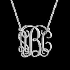 monogram sterling silver necklace best 25 monogram necklace silver ideas on monogram